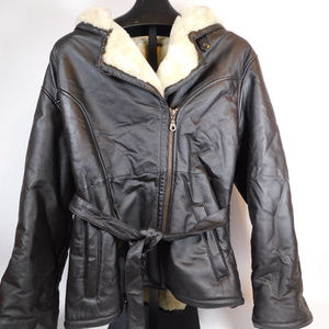 Wilson Leather Women's Belted Coat XL CL2010 1019